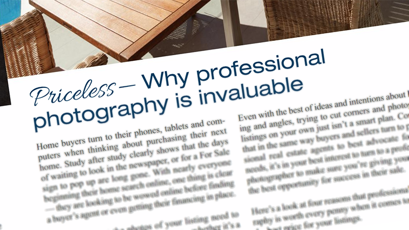 Why professional real estate photography is invaluable